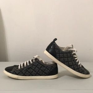 Chanel Quilted Denim Sneakers